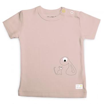 Olli+Jeujeu | T-shirt 'Basic'| Poederroze | Korte Mouw