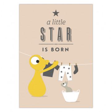 Ansichtkaart   A little star is born