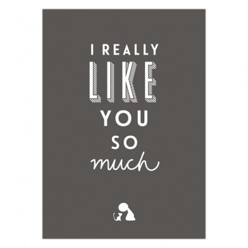 Olli+Jeujeu | Ansichtkaart | I really like you