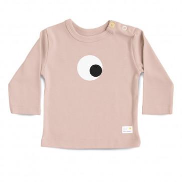 Olli+Jeujeu | T-shirt 'Eye'| Poederroze | Lange Mouw