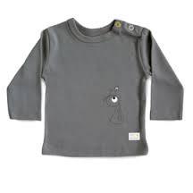 Olli+Jeujeu   T-shirt 'Play'  Donkergrijs   Lange Mouw