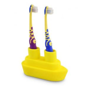 J-me | Tandenborstelhouder | Boot | Geel