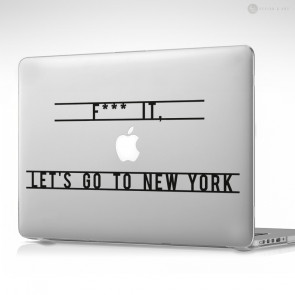 Let's Go To New York Apple MacBook