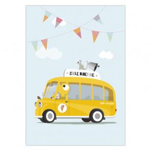 Olli+Jeujeu | Ansichtkaart | Schoolbus