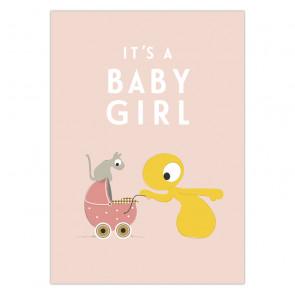 Olli+Jeujeu | Ansichtkaart | It's a baby girl