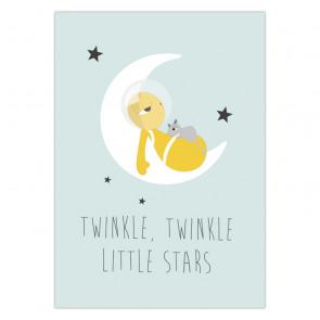 Olli+Jeujeu | Ansichtkaart | Twinkle Twinkle