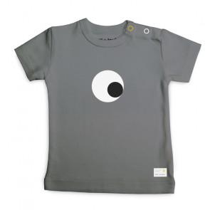 Olli+Jeujeu | T-shirt 'Eye'| Donkergrijs | Korte Mouw